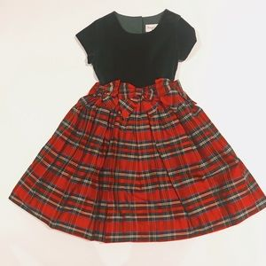 Frances Johnston Plaid Silk Christmas dress